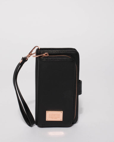 Black Iphone 6, 7 & 8 Zip Purse