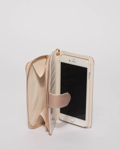 Rose Gold Iphone 6, 7 & 8 Plus Zip Purse
