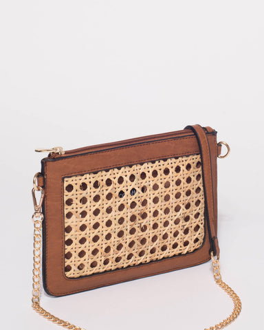 Tan Lyla Peta Crossbody Bag
