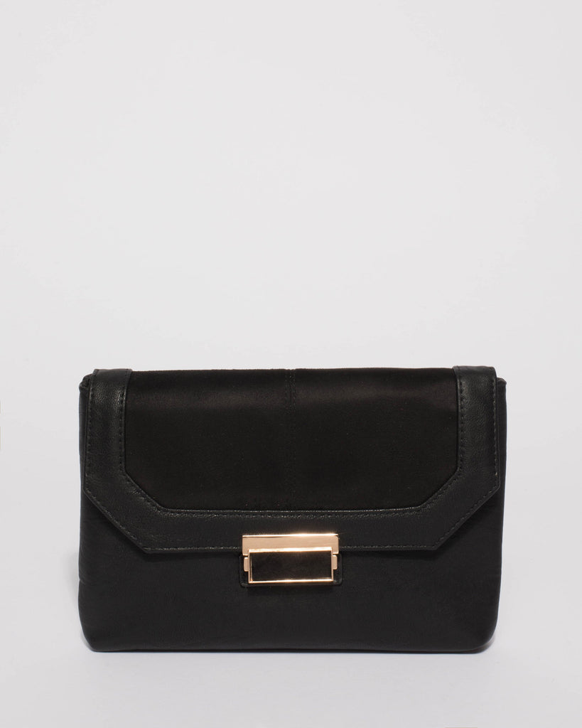 Black Ayla Evening Clutch Bag