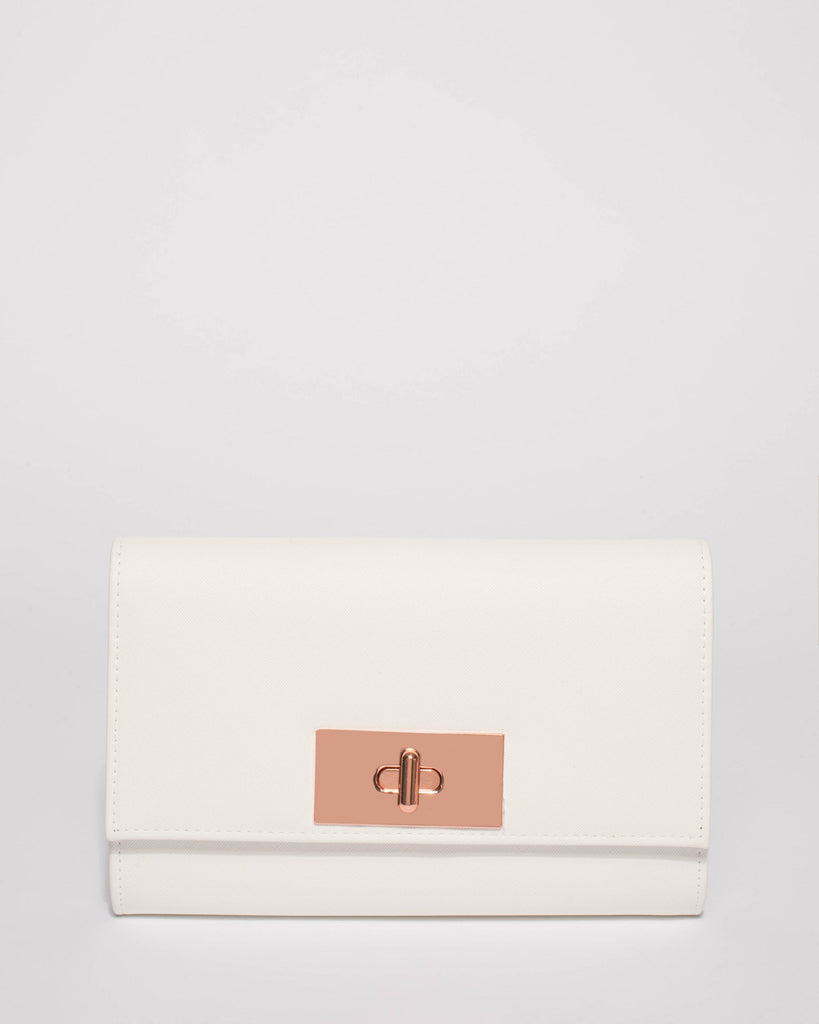 White Tara Large Clutch Bag