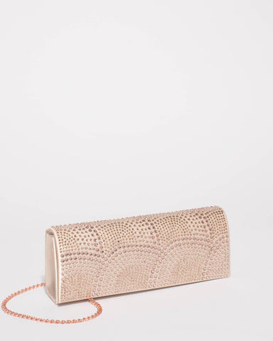 Champaign Embellished Clutch Bag
