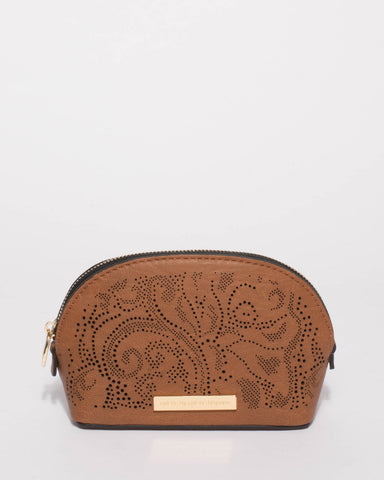 Tan Brittney Small Cosmetic Purse