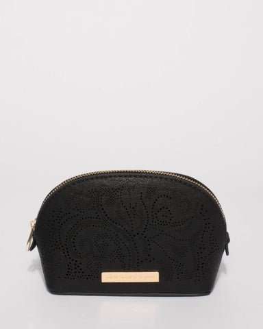 Black Brittney Small Cosmetic Purse