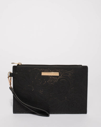 Black Niki Wristlet Purse