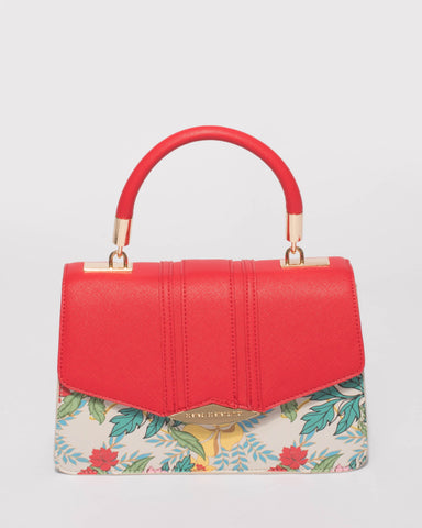 Red Monica Top Handle Mini Bag