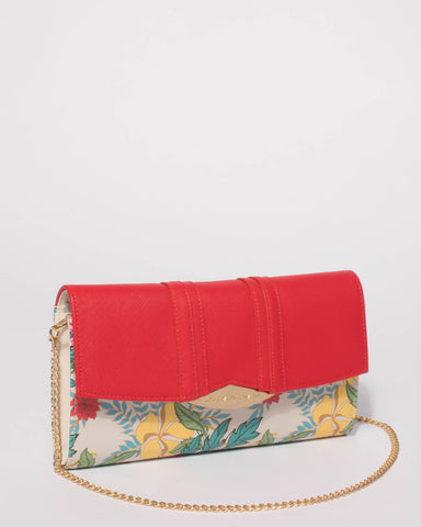 Red Nina Clutch Bag