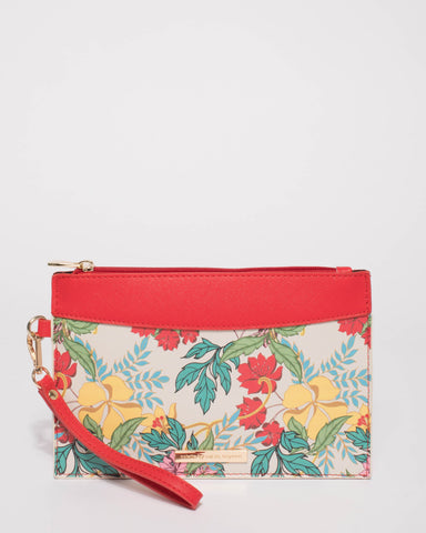 Red Abby Wristlet Purse
