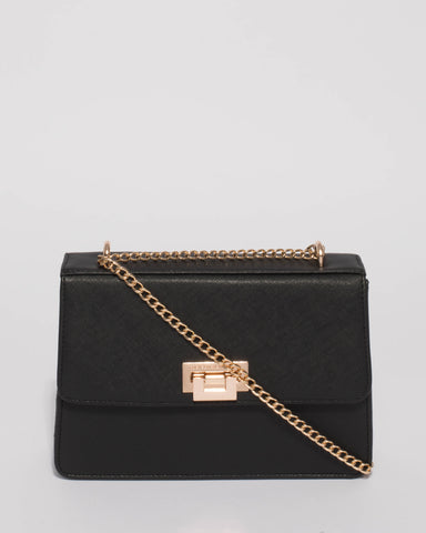 Black Ally Lock Crossbody Bag