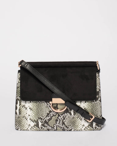 Black Snake Ella Shoulder Bag