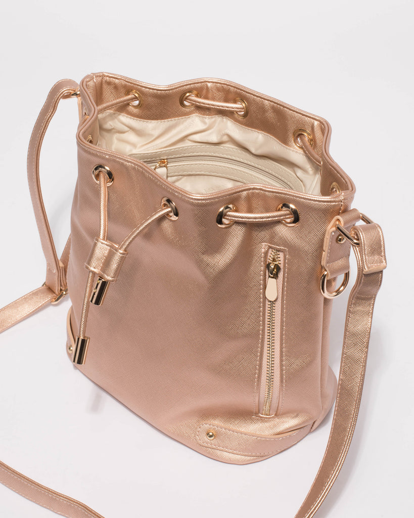 Rose Gold Giselle Tab Pouch Bag