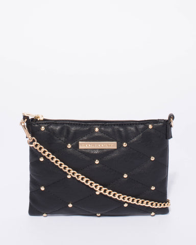 Black Stud Limited Edition Peta Crossbody Bag