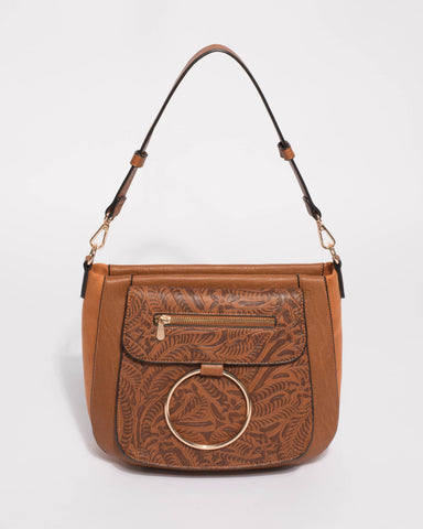 Tan Hannah Ring Tote Bag