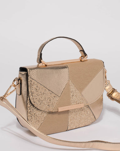 Gold Dani Panel Mini Bag Tote Bag