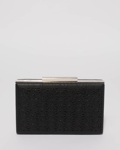 Black Jaimi Punch Out Clutch Bag