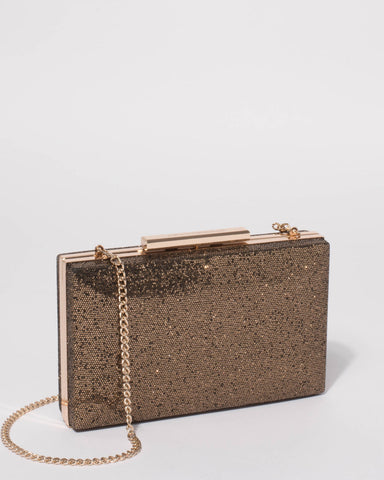 Gold Jaimi Clutch Bag