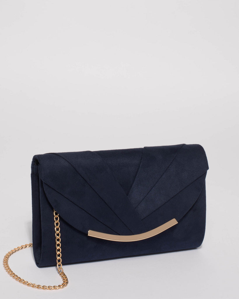 Navy Winny Evening Clutch Bag
