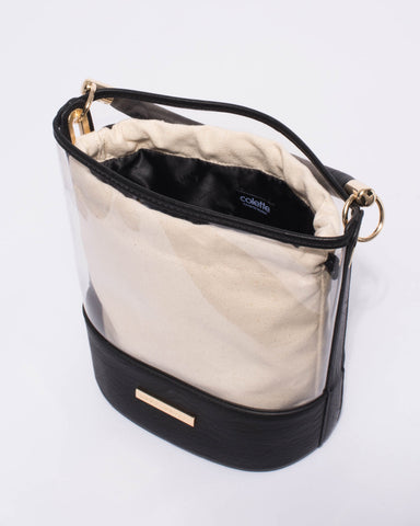 Black Bella Clear Bucket Crossbody Bag