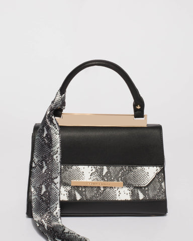 Black Snake Renee Top Handle Mini Bag