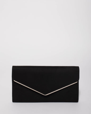 Black Sanchia Envelope Clutch Bag
