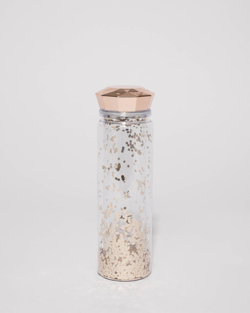 Rose Gold Glitter Drink Bottle