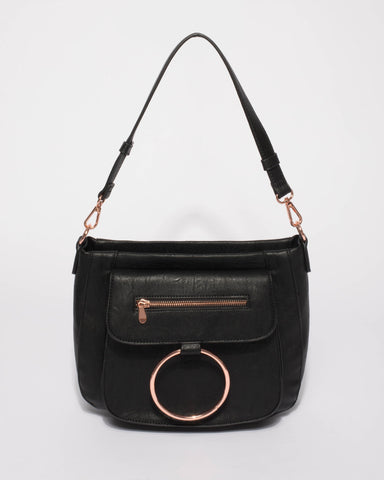 Black Hannah Ring Tote Bag