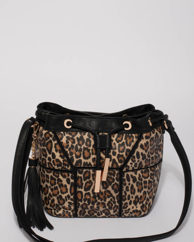 Leopard Luxy Bucket Bag