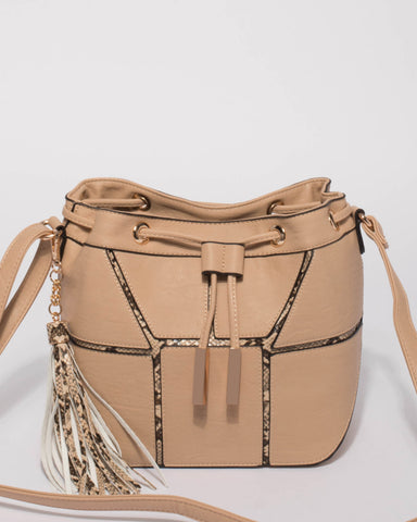 Beige Luxy Bucket Bag