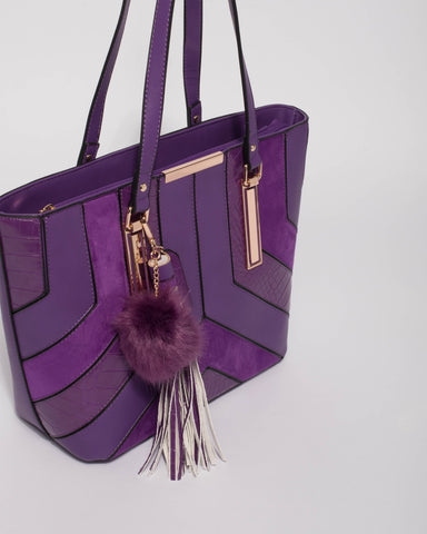Purple Tegan Tote Bag