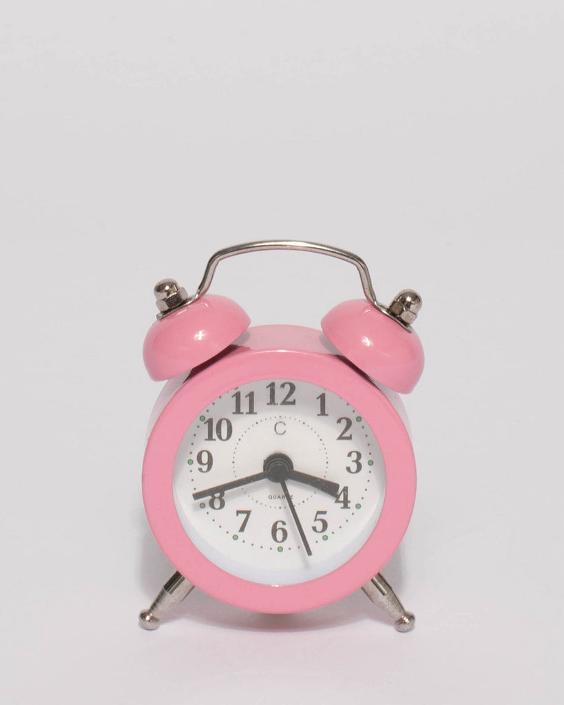 Pink On Time Mini Alarm Clock