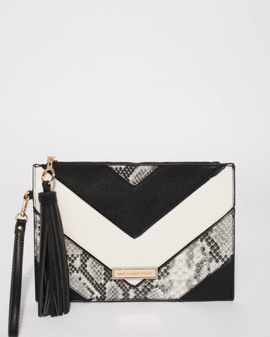 Monochrome Ava Wristlet Purse