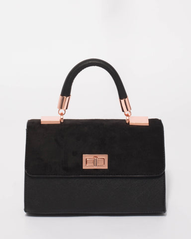Black Aya Top Handle Mini Bag