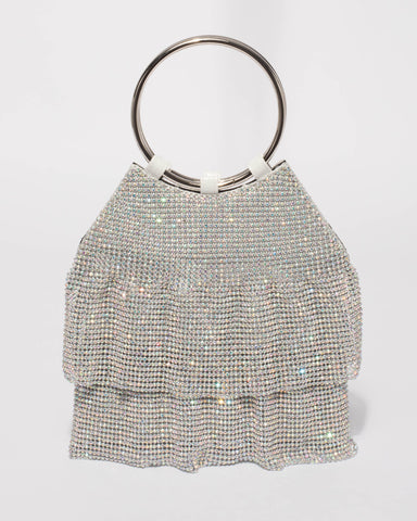 Silver Maggie Frilled Bag