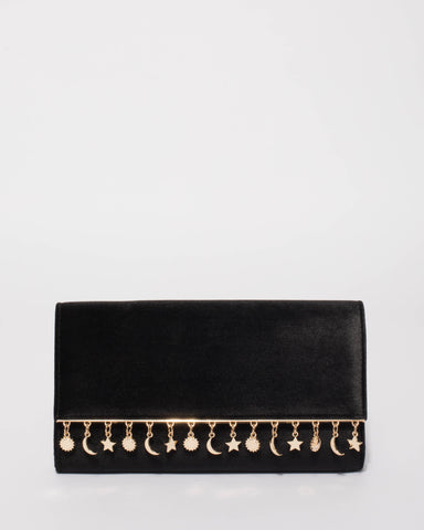 Black Charm Evening Clutch Bag