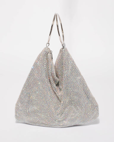 Silver Paris Ring Slouch Bag