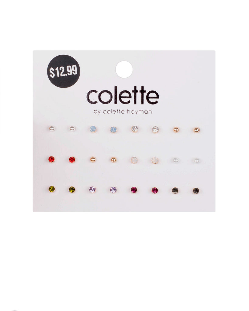 Multi Colour Gold Tone Mixed Earring Pack