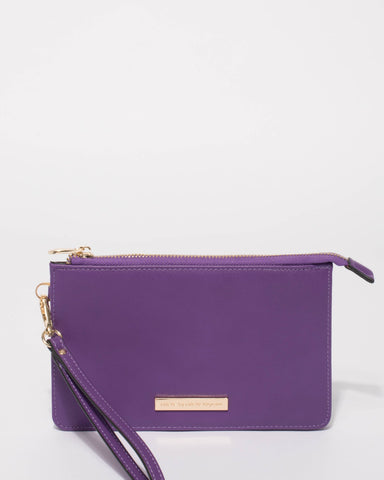 Purple Milly Wristlet Purse