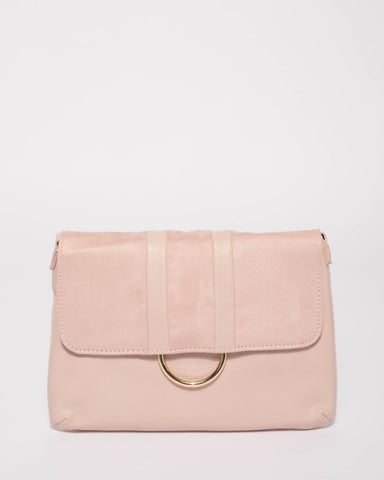 Pink Courtney Ring Crossbody Bag