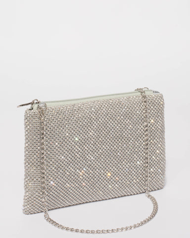 Silver Chainmail Peta Crossbody Bag