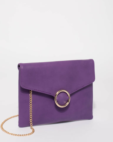 Purple Ellisa Clutch Bag
