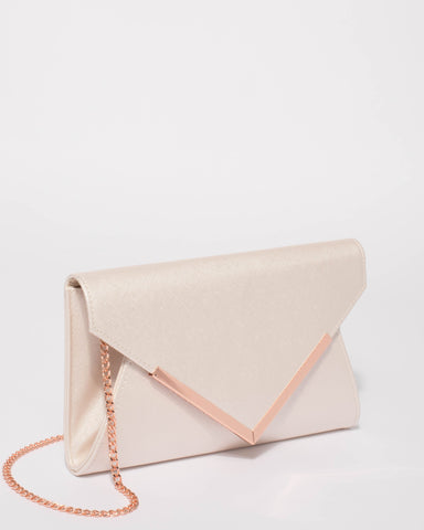 Ivory Lily Evening Clutch Bag