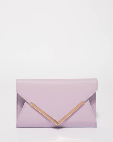 Purple Lily Evening Clutch Bag
