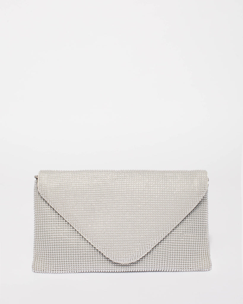 4fb046e6c1 Silver Natalia Envelope Clutch Bag – Colette by Colette Hayman UK