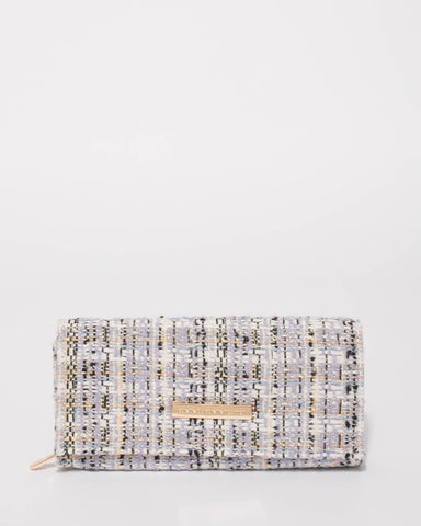 Multi Colour Tweed Allison Basic Wallet