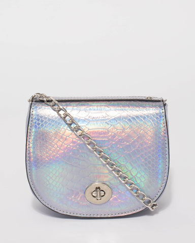 Hologram Kylie Saddle Crossbody Bag
