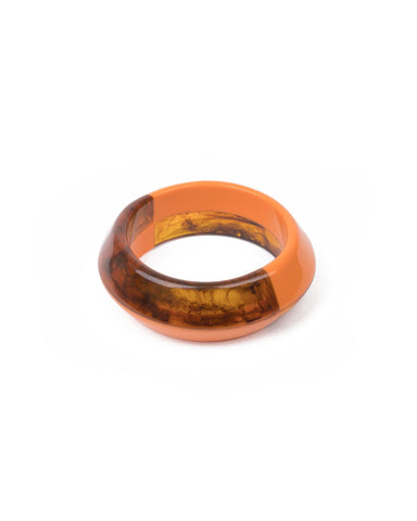 Orange Two Tone Large Resin Bracelet