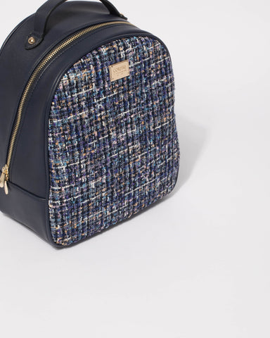 Blue Tweed Belinda Backpack