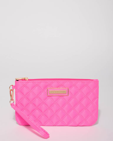Neon Pink Dani Quilted Purse