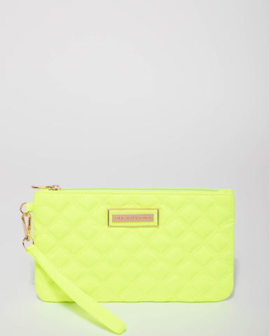 Neon Yellow Dani Quilted Purse