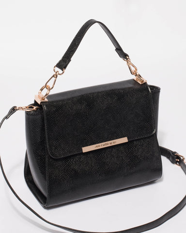 Black Mara Top Handle Mini Bag